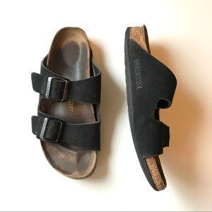 Birkenstock Arizona sandal black suede Sz 39
